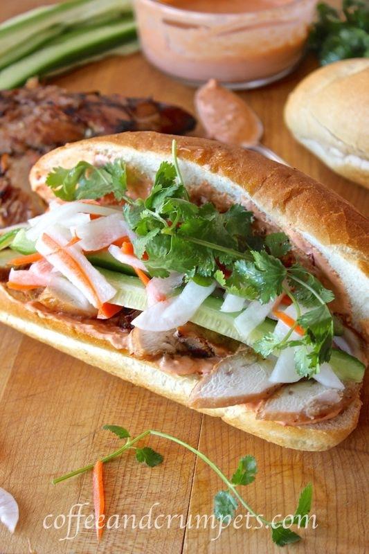 Banh Mi Ga ~ Vietnamese Chicken Sandwich - Coffee and Crumpets